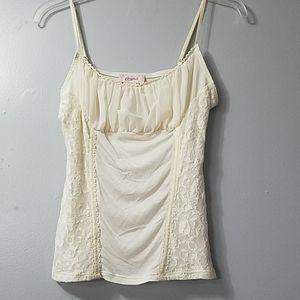 Vintage Candies lace spaghetti strap shirt.